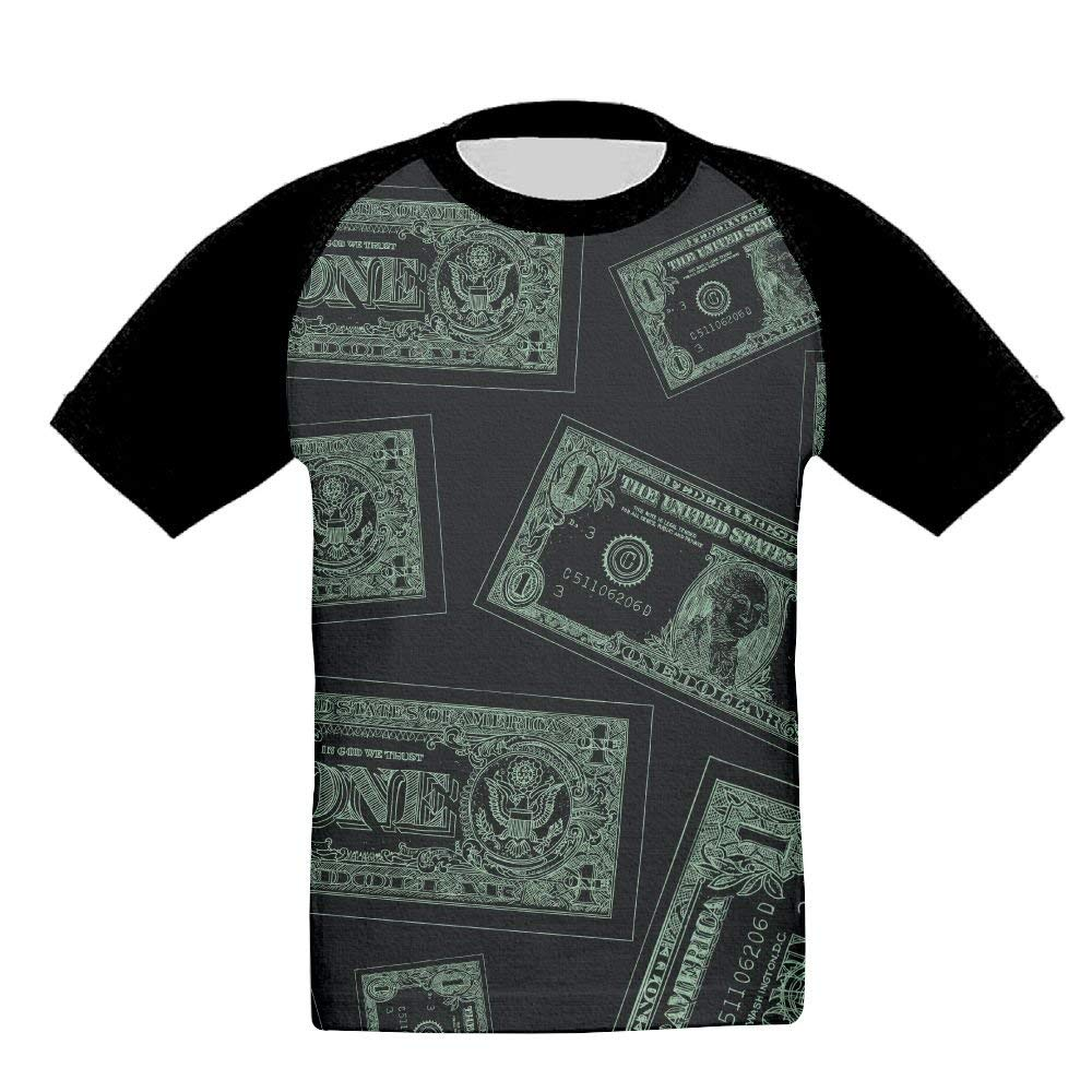 XS-XL INTERESTPRINT 100 Dollar Bills Childs T-Shirt