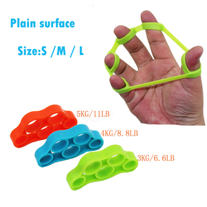 Plain surface Silicone resistance band Finger strength Stretcher exerciser