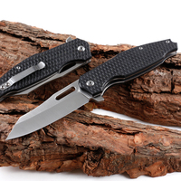 Stainless steel pocket folding knife EDC China knife with G10 handle