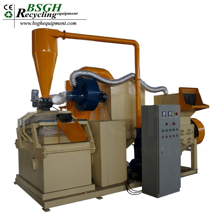 BS-600 copper granulator machine by sir water separator plastic aluminum separating and granulating machine for sale