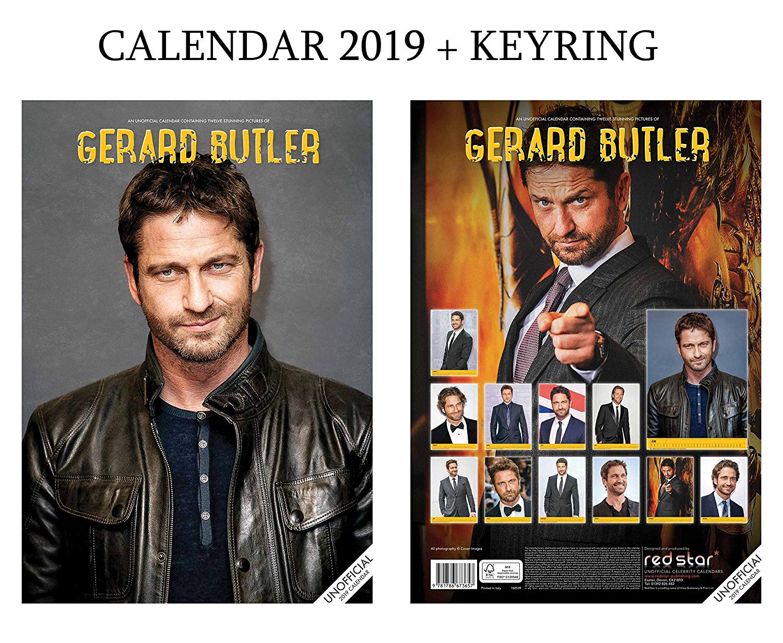 Gerard Butler Calendar 2019 (A3 Poster Size) + Gerard Butler Keyring