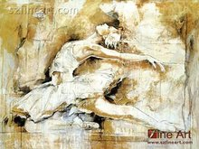 Handpaint high quality beautiful girl picture painting of ballet dancer