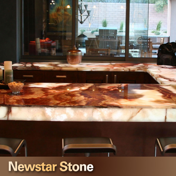 Chinese High Quality Lighted Onyx Bar Tops