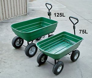 Heavy Duty Poly Dump Plastic Garden Dump Cart
