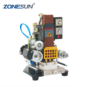 ZONESUN ZY-819K 80*110mm Automatic Stamping Machine leather LOGO Creasing machine stamper High speed card Embossing machine