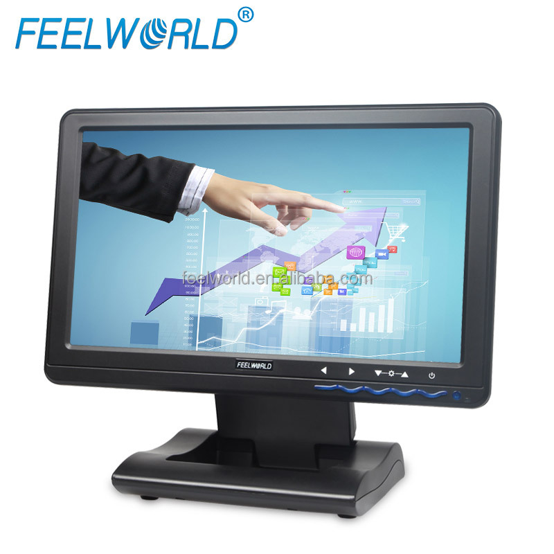 FEELWORLD 10.1 inch 1366*768 1080P hd touch screen USB wholesale lcd monitor for computer display