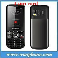 6700 4 Sim Card TV Mobile Phone + Quadband + Low End + 2.2 inch