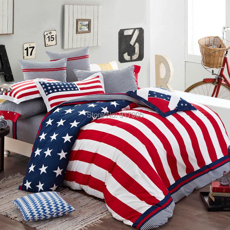 new 2014 home textile american flag bedding set modern designer bedding sets cool bedding. Black Bedroom Furniture Sets. Home Design Ideas