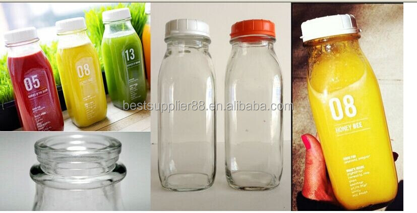 Eco-friendly,Can Recycling 16oz French Square Beverage Glass ...