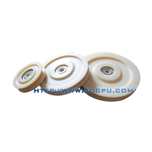 Free sample small size plastic nylon rope v groove pulley