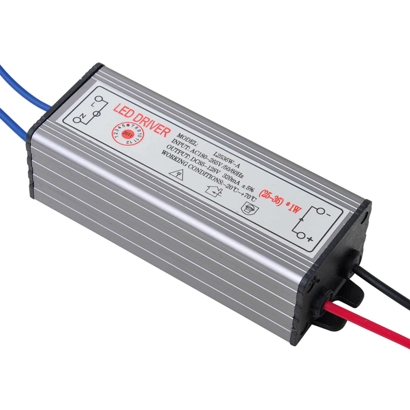 25-36W LED Driver Power Supply Waterproof IP67 Constant Current AC100-260V 300mA For 25-36W LED Bulb