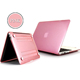 2017 Alibaba hot selling PC material solid crystal laptop top cover for Macbook 13.3 Air