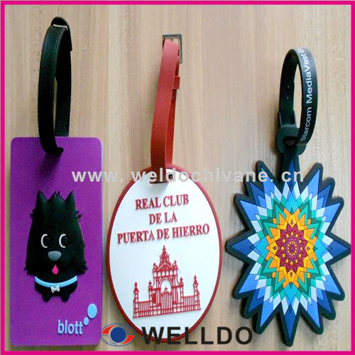 Guangzhou custom airline rubber luggage bag label luggage tag