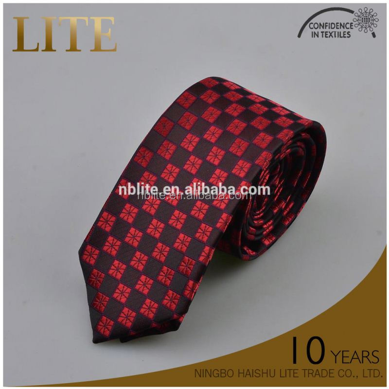 Lemon striped polyester shinny necktie young man