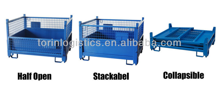 Torin SWK8009 Stackable wire basket/Mesh Sided Metal Stillage / foldable storage box (L1205*W1000 mm/OEM)