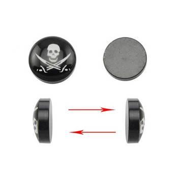 Fake Ear Stretchers Skull Plug Earrings For Men Magnetic Earring Plugs