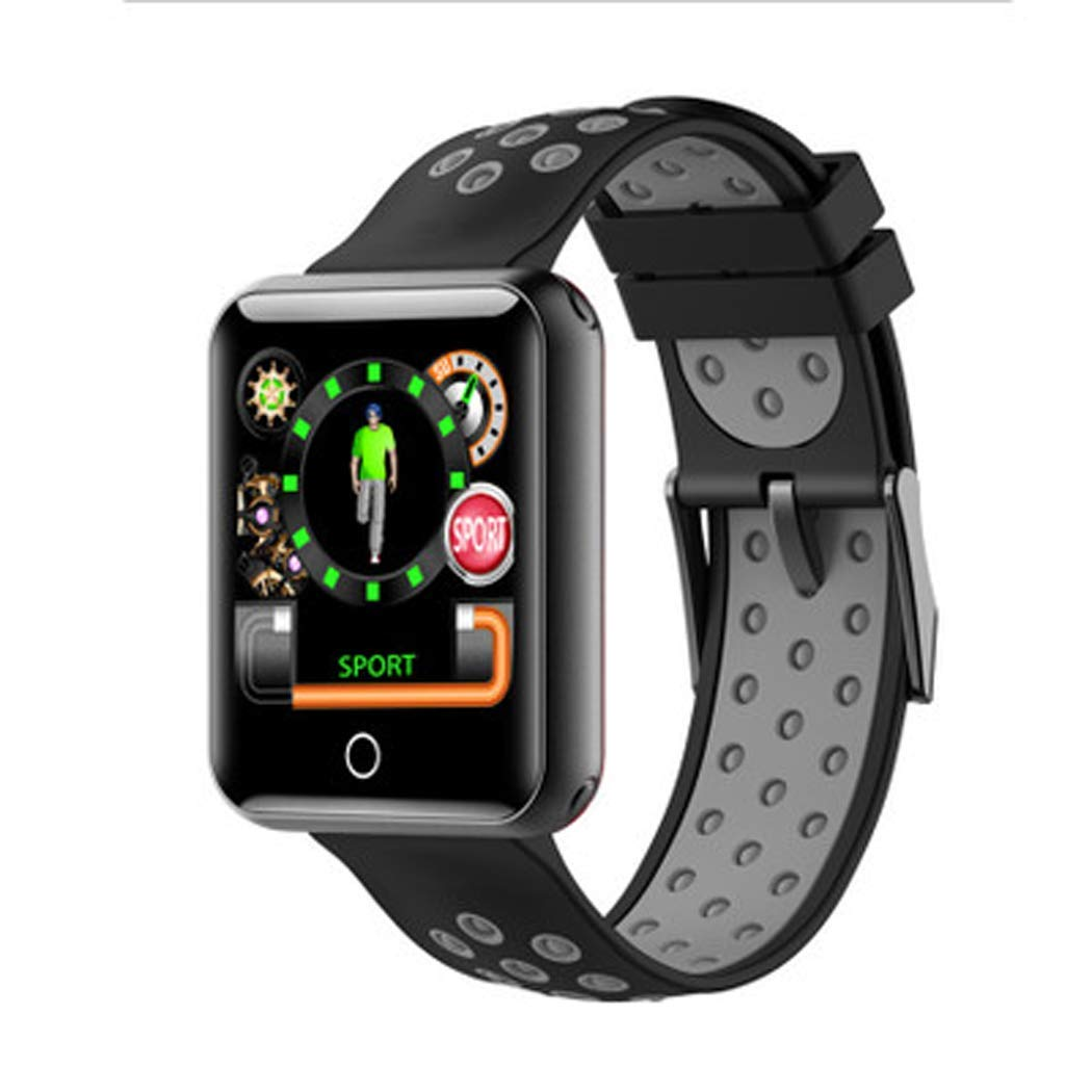 YWY Fitness Tracker Smart Bracelet Q18 Bluetooth Call Remind Smart Watch Sleep Monitor Activity Tracker Calorie Counter Pedometer Sport Watch for Android iOS Phone (Color : Gray)