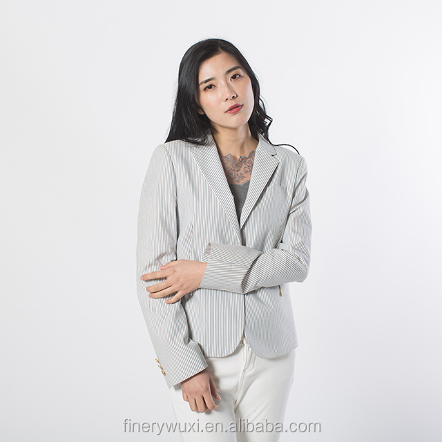 spring summer fall New Fashion Clothes Vertical Stripe Casual Blazers Suits Woman Pants Suits