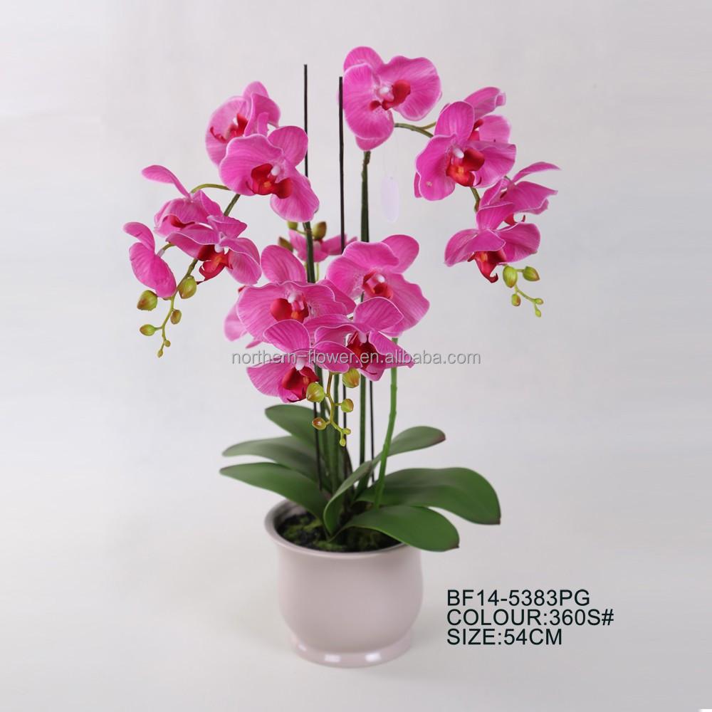 Hot Sale Artificial Orchid Flower Arrangements Wholesale For Home