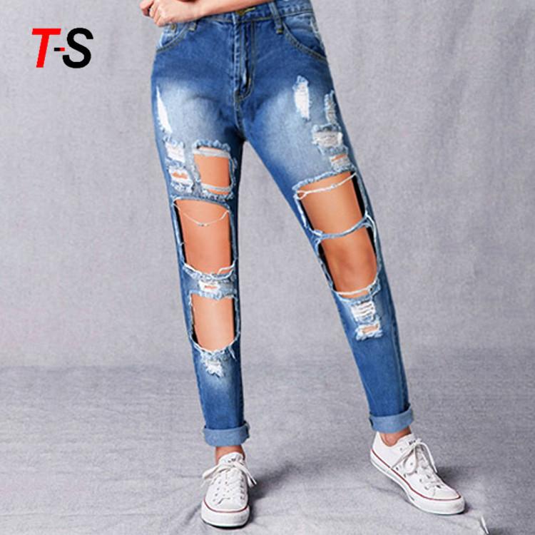 لحم ضباب أنا أرتدي الملابس Jeans Rotos Para Mujer Outofstepwineco Com