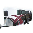 Best selling horse float trailer angle load 3 horse trailer deluxe for horse