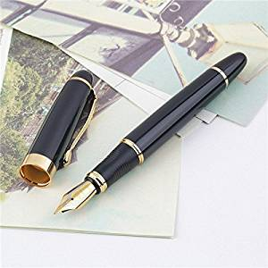 Jinhao X450 Black And Golden M Nib Fountain Pen / . Jinhao X450 Black And Golden M Nib Fountain Pen is available now from our US warehouse for only $4.99 . . Jinhao X450 Black And Golden M