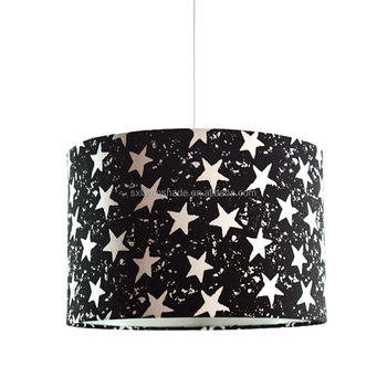 Best selling star black cotton PVC round pendant lampshade
