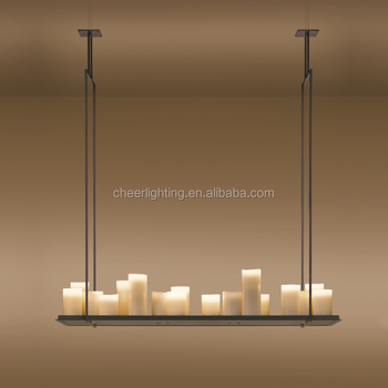 Modern Innovative Candle And Metal Light Fixture Altar Pendant ...
