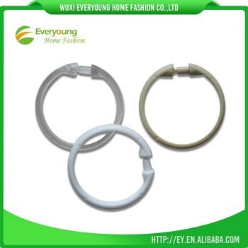 Plastic Round Shower Curtain Hooks