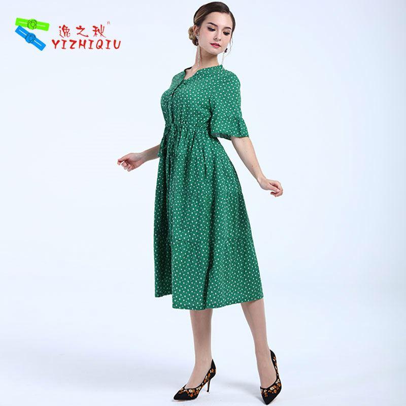 YIZHIQIU ホット販売ラルゴ vestidos