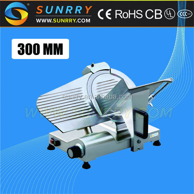 Commercial electric manual fresh meat slicer with 300es-12 slicer meat for sale (SY-MS300B SUNRRY)