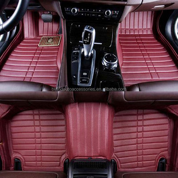 best selling two layer leather material 5d car matting floor buy