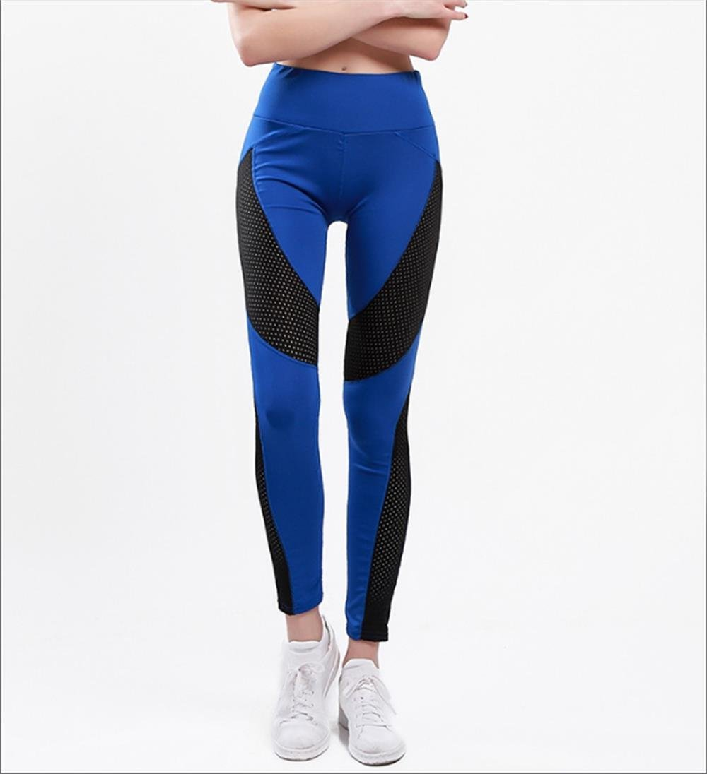 9d35c874c1943b Get Quotations · GLOBAL YOU Ladies Sports Yoga Pants Mesh Stitching Quick  Dry Stretch Fitness Tight Breathable Yoga Pants