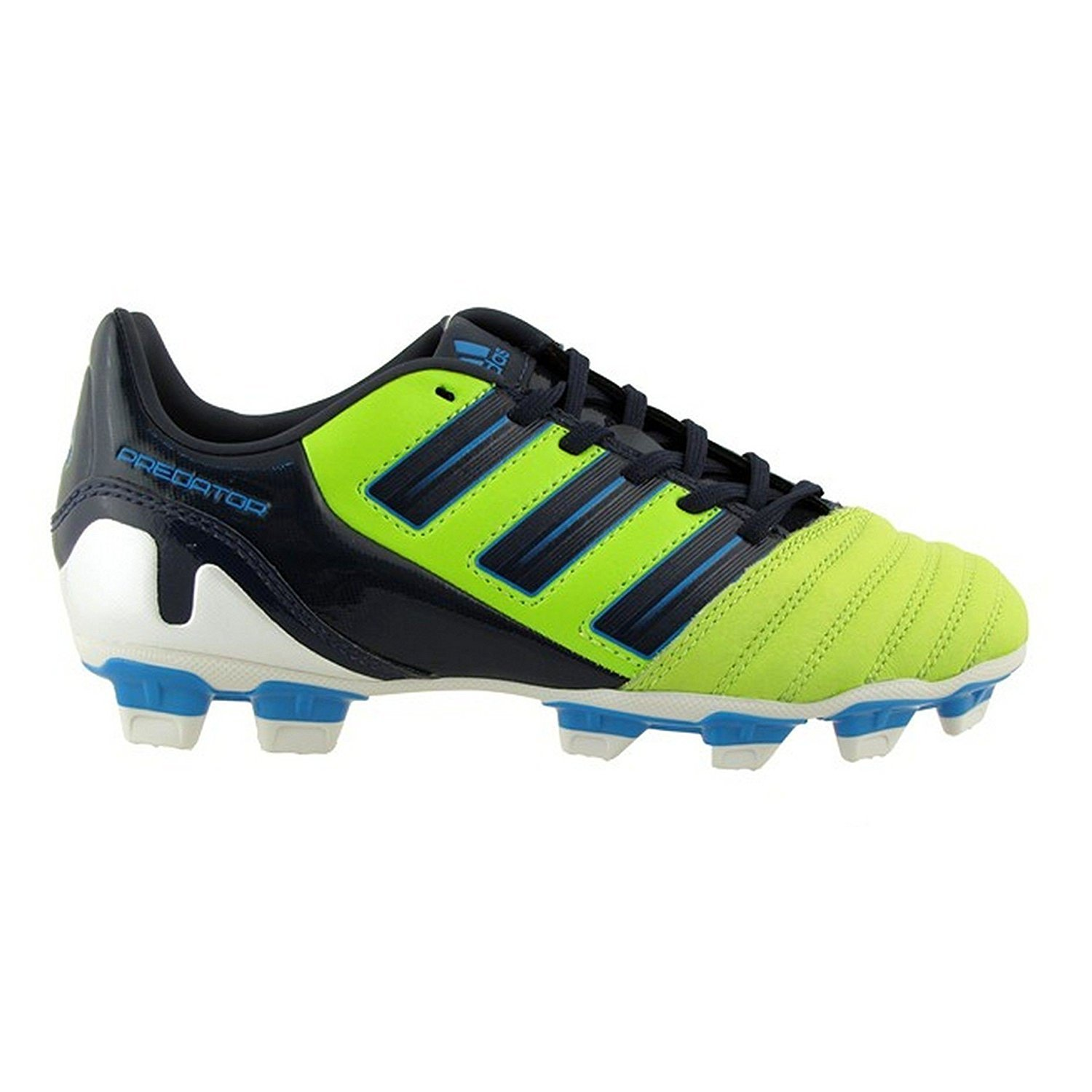 aeaea75ac Get Quotations · adidas PREDATOR JUNIOR Absolado TRX FG Soccer Cleats  (Slime Drkindigo Preshablu)