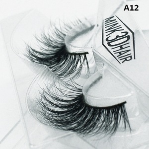 new 100% handmade faux mink fur/silk false eyelash imitate the real 3D mink fur strip lashes