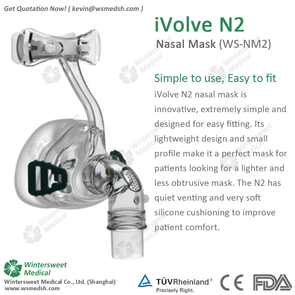 PE and Silicone CPAP Nasal Mask with Headgear for Sleep Apnea