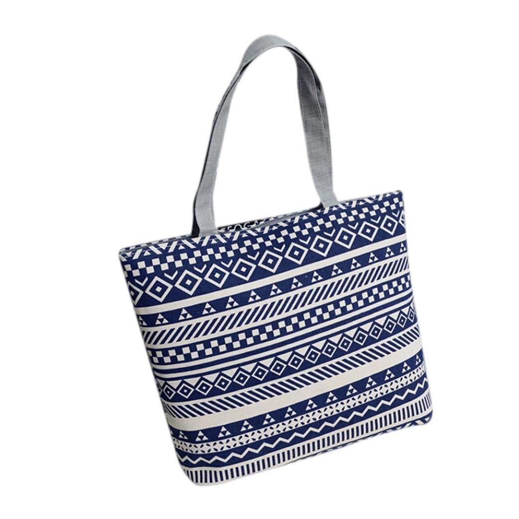 e2413bb88f9f Get Quotations · LOngra Fashion Women Girls Printing Canvas Shopping Handbag  Shoulder Tote Shopper Bag Ladies Designer Trendy Bags