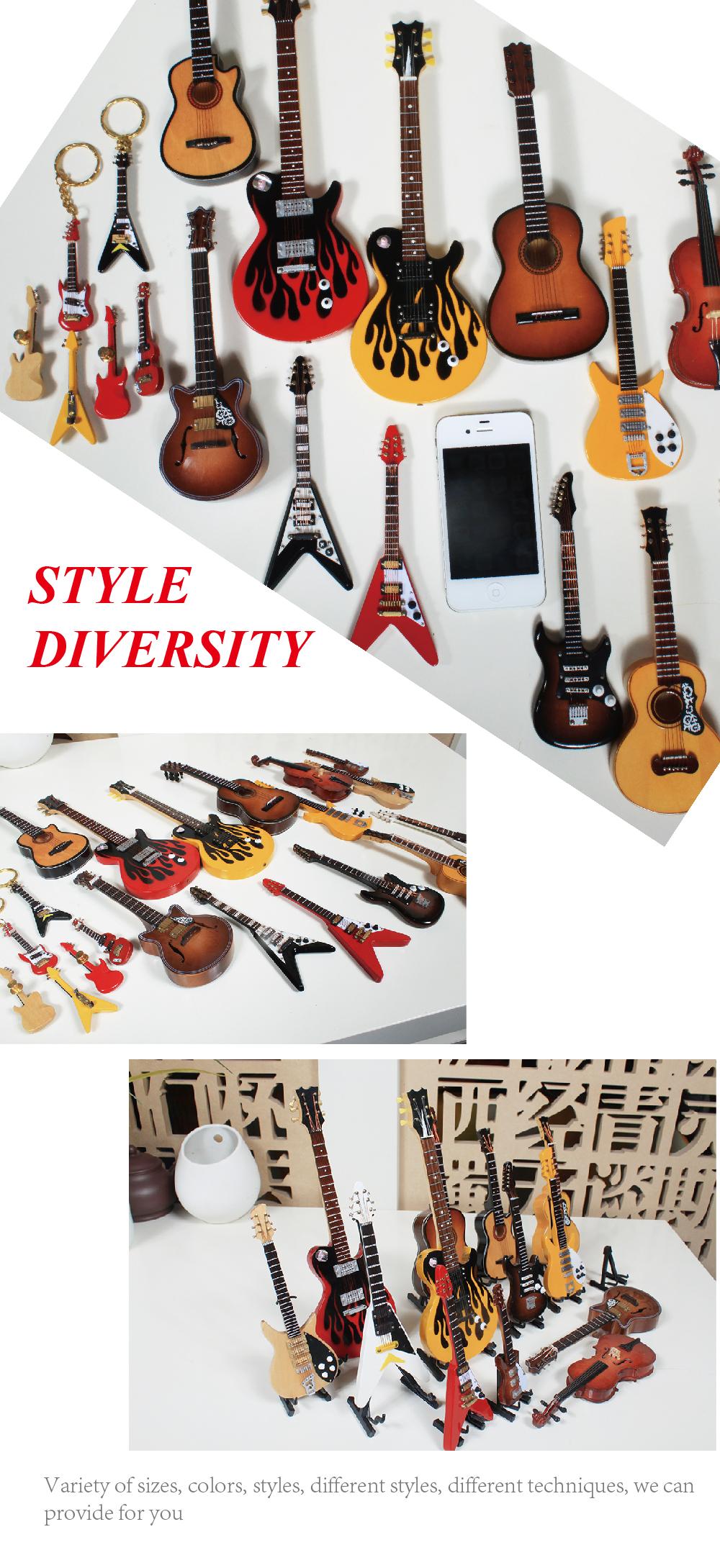 Enjoyable Wholesale Miniature Guitar Mini Guitar Model Christmas Tree Easy Diy Christmas Decorations Tissureus