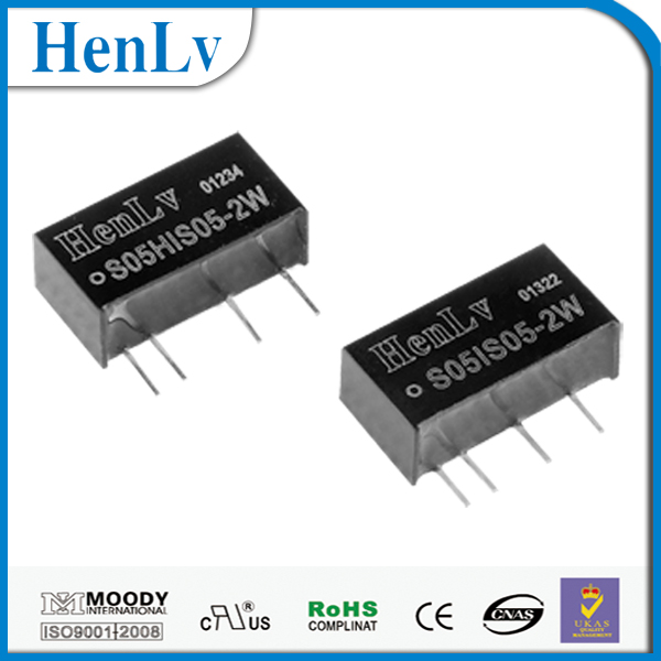 Henlv dc-dc converter step up 5v to 5v Regulated S05HIS05-2W used in power prepayment system.