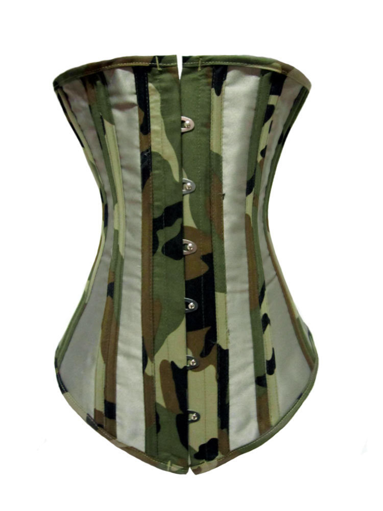 06c60dc30a Get Quotations · Graceful Camouflage Underbust Waist Corset LC5214 women  blusas lingerie sexy corset set