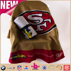 soft feel 100% polyester Eco-friendly high quality low price nfl blankets