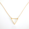 Geometric minimalist smple design gold stainless steel triangle necklace
