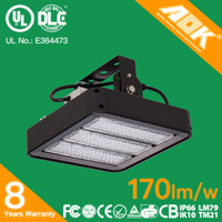 8 Years Warranty IP65 Bracket Adjustable Warehouse Light 120W LED Linear High Bay with 170lm/W