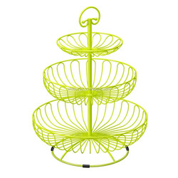 Green Metal Wire Powder Coating mini 3 Tiers Tower Party wedding Round cup cake Cupcake cake Stand