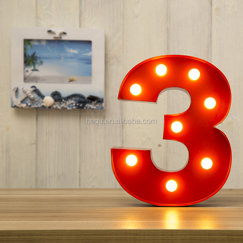 Metal Wholesale Christmas Decorations Dazzler Marquee Numbers Led Light