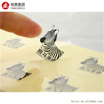 Custom Waterproof Design Transparent PVC Vinyl Sticker
