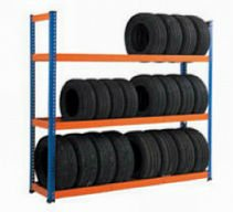 warehouse tire rack