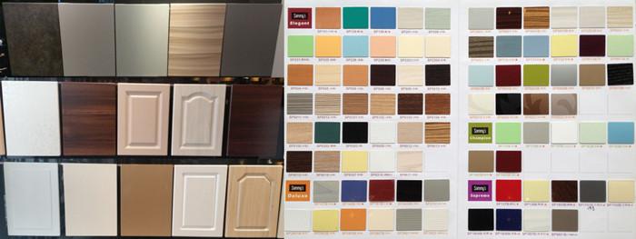 German Pvc Laminate Cabinet Door Melamine Faced Chipboard Kitchen Cabinets