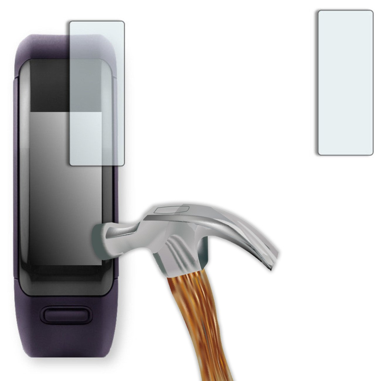 2 x DISAGU Armor screen protector for Garmin vivosmart HR screen fracture protection film (intentionally smaller than the display due to its curved surface)