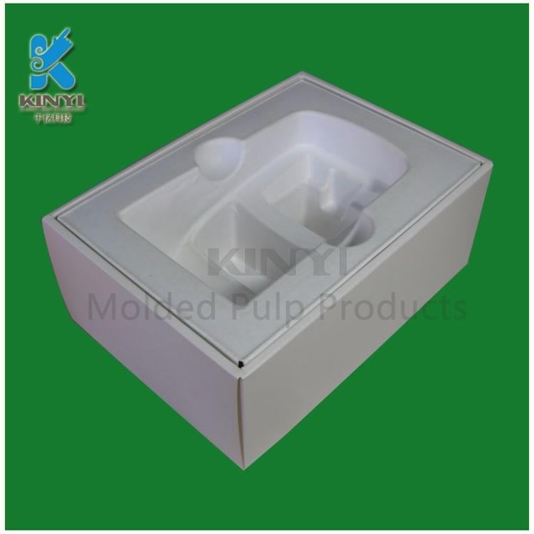 Shockproof paper pulp computer screen protector boxes for packing